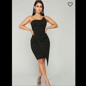 Fashion Nova midi hope you're happy dress Black